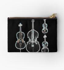 The Four Strings - Violin, Viola, Cello, Bass  Studio Pouch