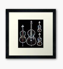 The Four Strings - Violin, Viola, Cello, Bass  Framed Print