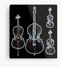 The Four Strings - Violin, Viola, Cello, Bass  Metal Print