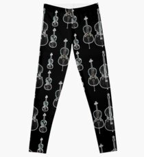The Four Strings - Violin, Viola, Cello, Bass  Leggings