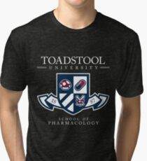 Toadstool University - Dark Tri-blend T-Shirt