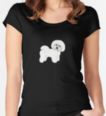 Bichon Frise dog Women's Fitted Scoop T-Shirt