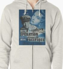 Operation Pacific Poster In French Zipped Hoodie