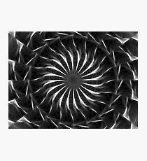 Gray Kaleidoscope Art 11 Photographic Print