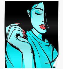 Kylie Jenner [Blue Vector] Poster