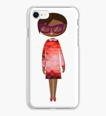 Hipster girl fashion set iPhone Case/Skin