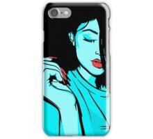 Kylie Jenner [Blue Vector] iPhone Case/Skin