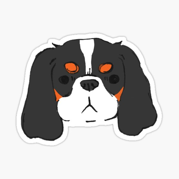 Cavalier King Charles Spaniel - Tri-color Sticker