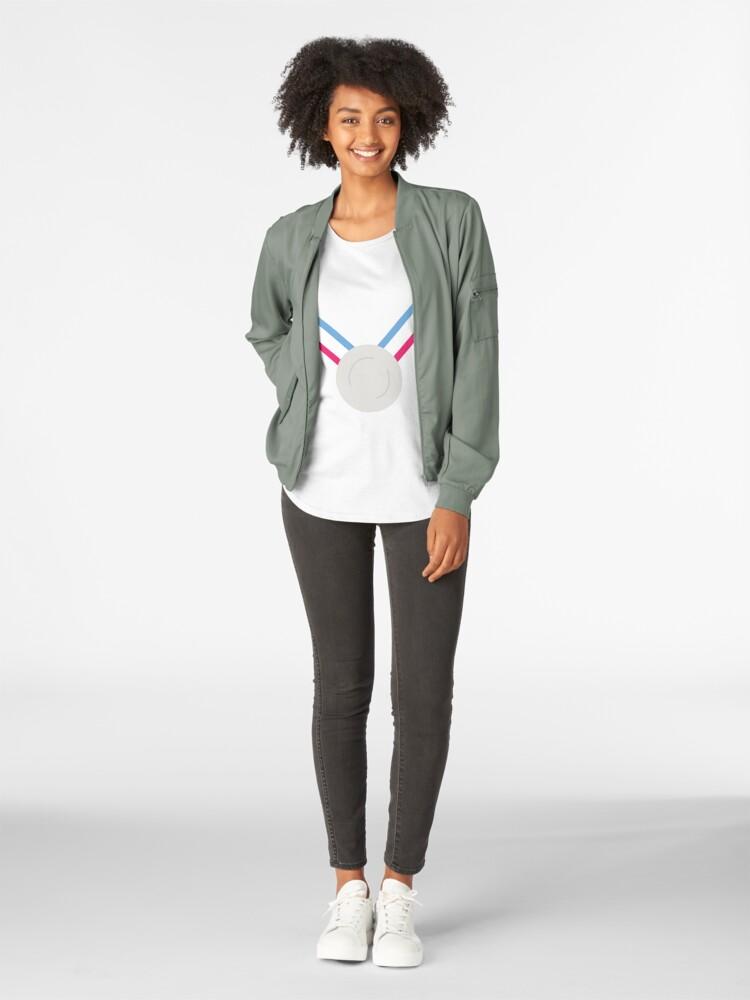 Alternative Ansicht von Für das Silber (Medaille)! - Olympische Spiele Tokio 2022 Premium Rundhals-Shirt