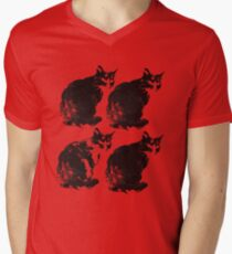 cat cat cat cat Men's V-Neck T-Shirt