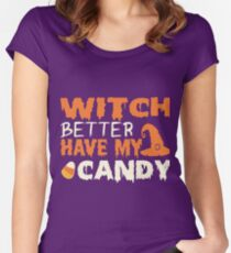 Funny halloween tshirt for women Women's Fitted Scoop T-Shirt