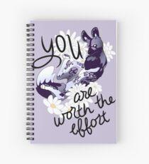 """Cuaderno de espiral Perro pintado """"You Are Worth the Effort"""""""