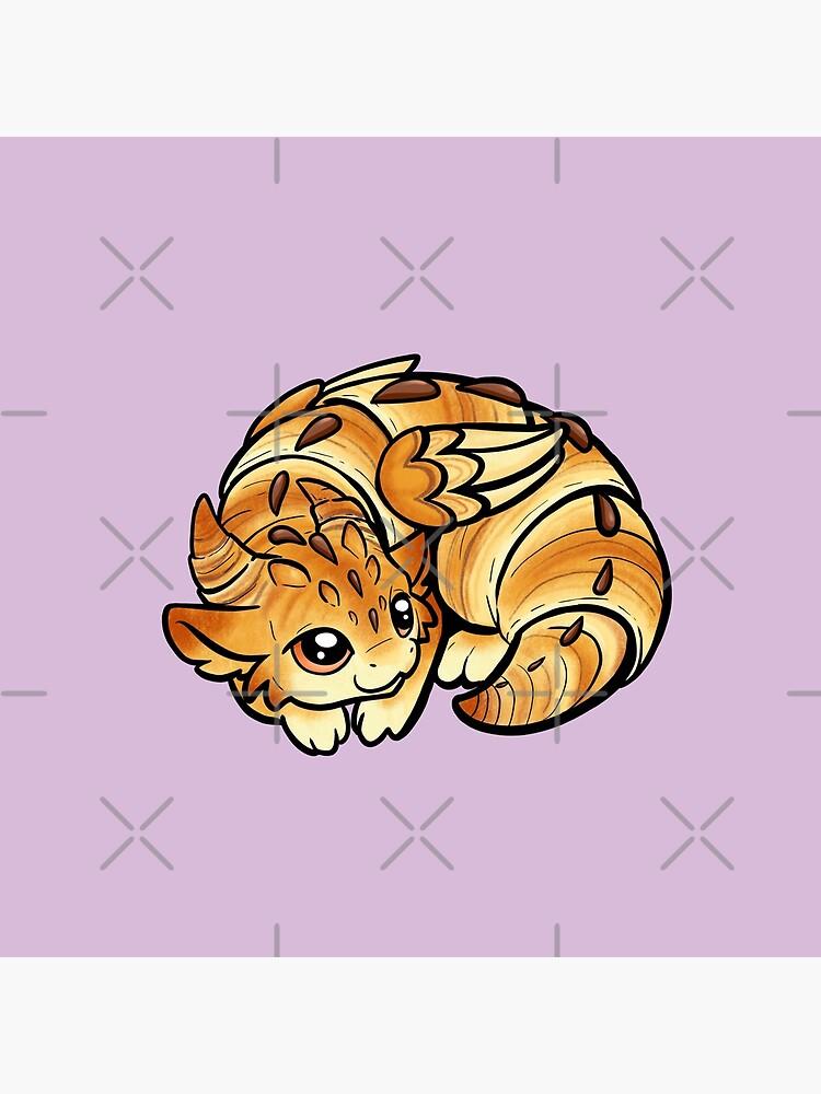 Quot Croissant Dragon Quot Throw Pillow By Bgolins Redbubble