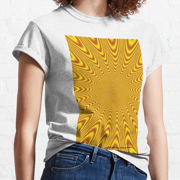 #Op #art, #optical art, #visual art, optical #illusions, #abstract, #Mold, #uniform, #format, #decor, #tracery, #garniture, #symmetry, #reiteration, #OpArt, #OpticalArt, #VisualArt, #Opticalillusions Classic T-Shirt