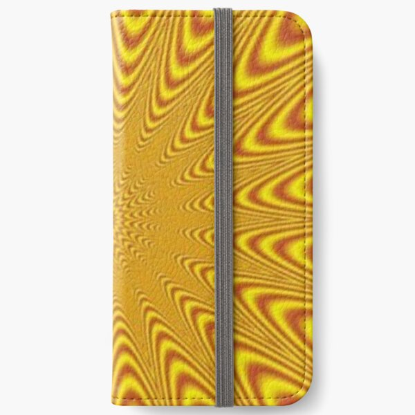 #Op #art, #optical art, #visual art, optical #illusions, #abstract, #Mold, #uniform, #format, #decor, #tracery, #garniture, #symmetry, #reiteration, #OpArt, #OpticalArt, #VisualArt, #Opticalillusions iPhone Wallet