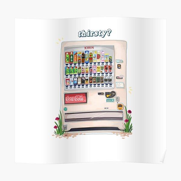 Japanese Vending Machine - thirsty? Poster