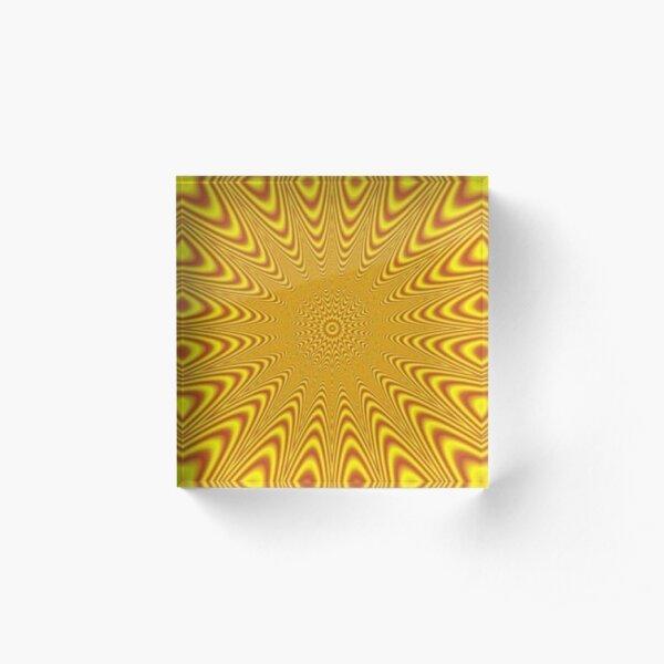 #Op #art, #optical art, #visual art, optical #illusions, #abstract, #Mold, #uniform, #format, #decor, #tracery, #garniture, #symmetry, #reiteration, #OpArt, #OpticalArt, #VisualArt, #Opticalillusions Acrylic Block