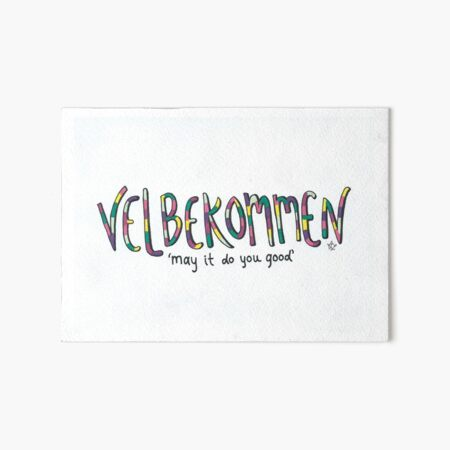 Velbekommen | May it do you good Art Board Print
