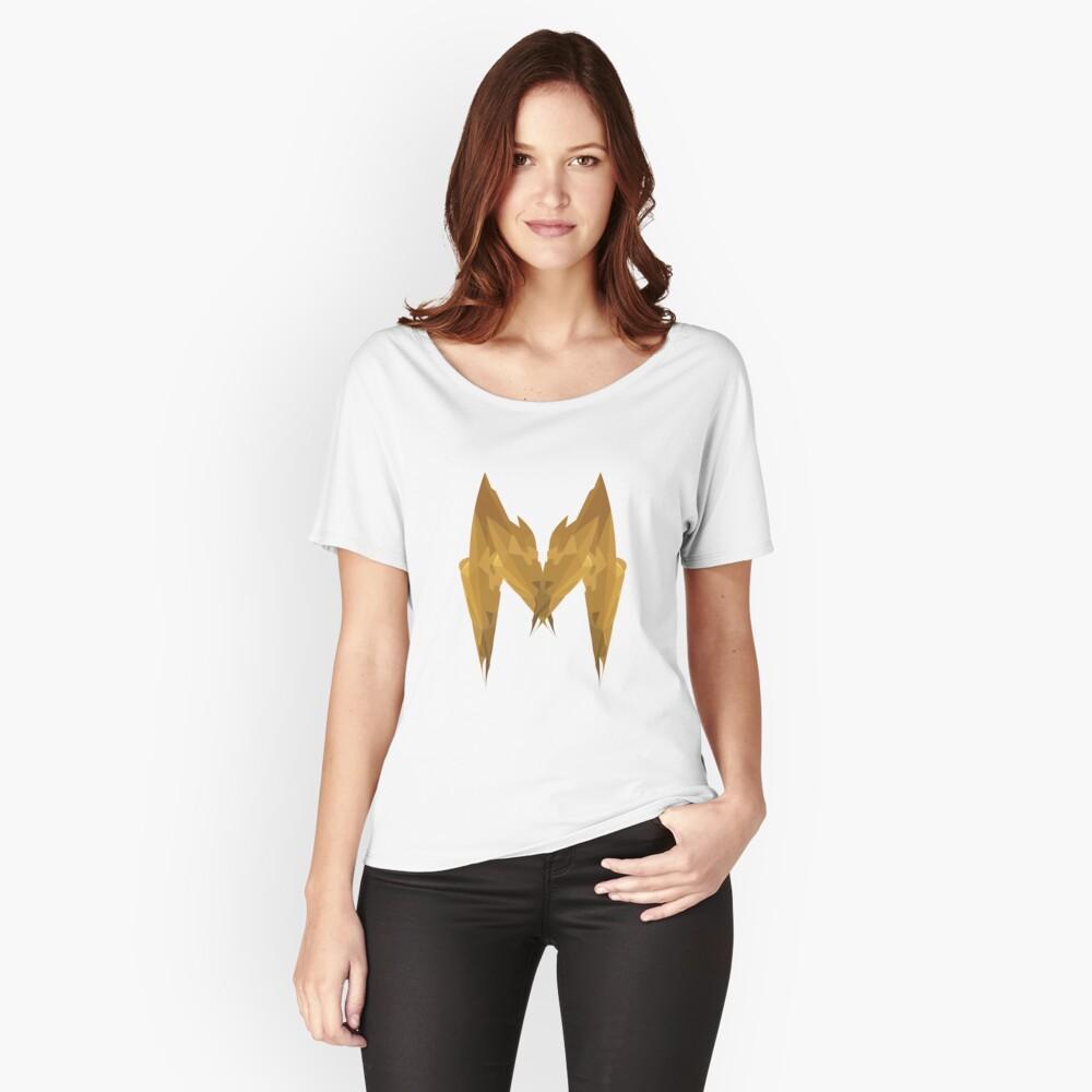 M - Die goldenen Buchstaben Loose Fit T-Shirt