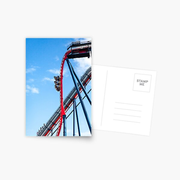 Rollercoaster Fun Postcard