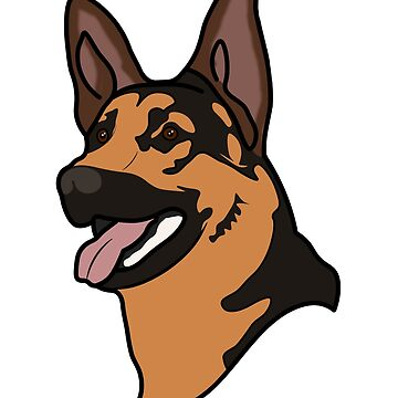 German Shepherd Guard Police Dog K9 by ccheshiredesign