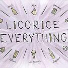 Licorice Everything by Gina Lorubbio