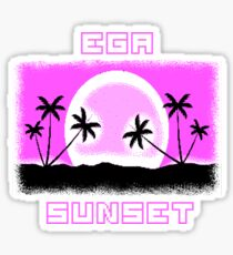 EGA SUNSET with pixel graphics Sticker