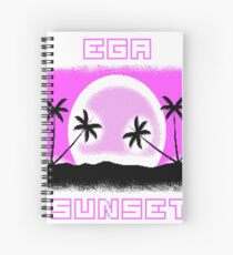 EGA SUNSET with pixel graphics Spiral Notebook