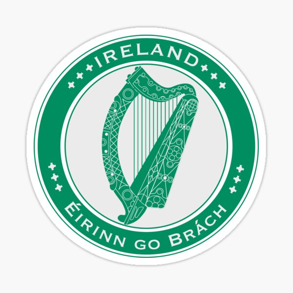 FLAGS AND DEVICES OF THE WORLD - IRELAND Sticker
