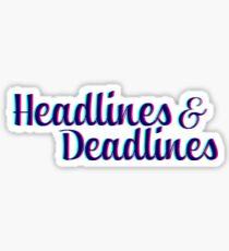 Schlagzeilen und Fristen Sticker