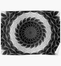 Gray Kaleidoscope Art 13 Poster