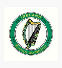 FLAGS AND DEVICES OF THE WORLD - IRELAND Art Print