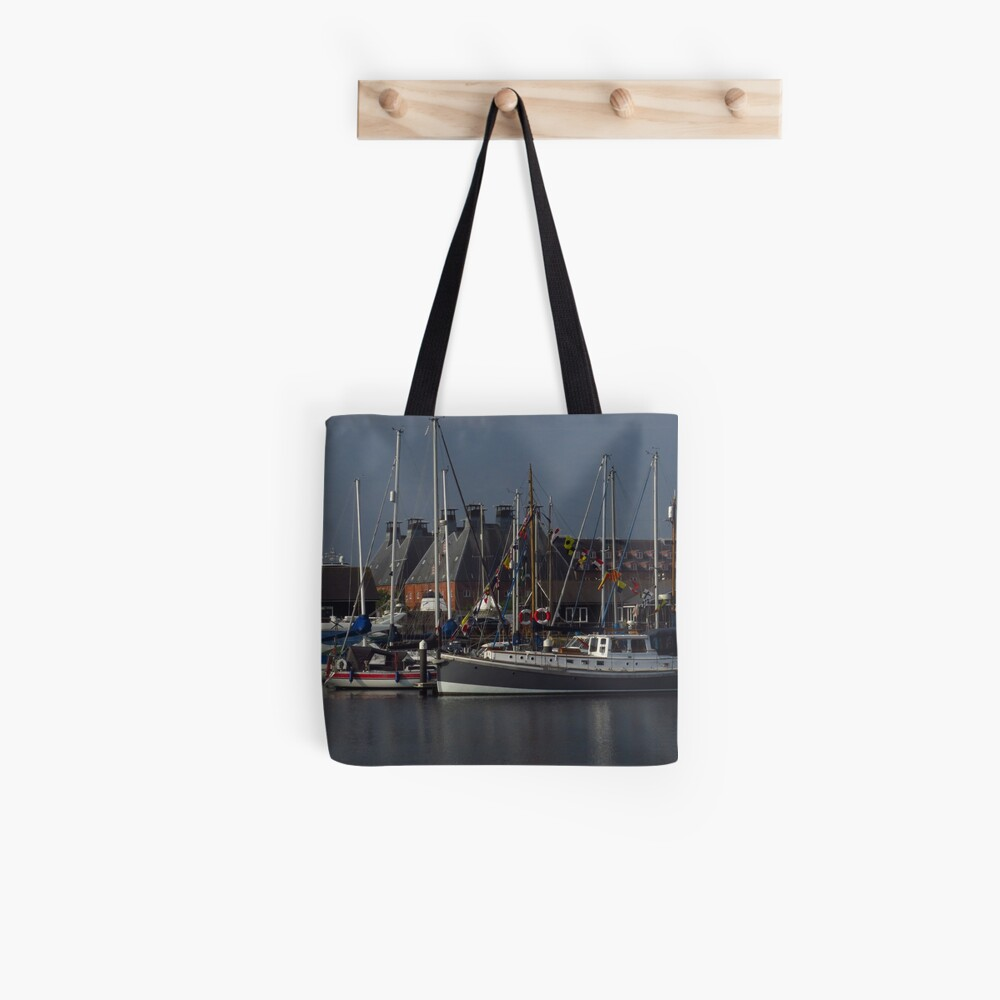 Boote und Mälzerei, Ipswich Wet Dock Stofftasche