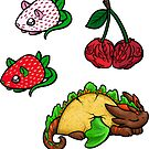 Food Dragon Sticker Pack 4 by Rebecca Golins