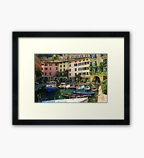 Limone Harbour Framed Print