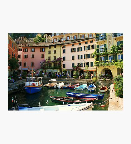 Limone Harbour Photographic Print