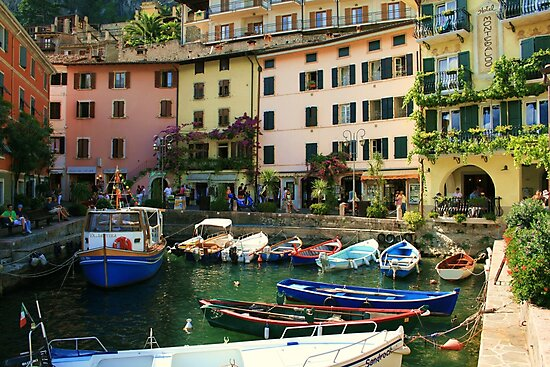 Limone Harbour by RedHillDigital