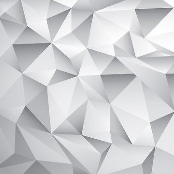 Geometric Silver Phone Case by webeller