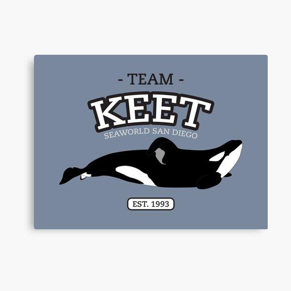 Team Shamu - Keet Canvas Print