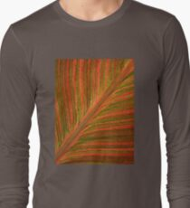 Natural Abstracts - Leaf Pattern Long Sleeve T-Shirt