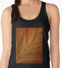 Natural Abstracts - Leaf Pattern Women's Tank Top