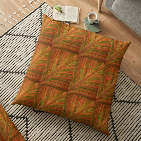 Natural Abstracts - Leaf Pattern Floor Pillow