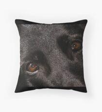 german shepherd eyes black Throw Pillow