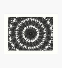 Gray Kaleidoscope Art 14 Art Print