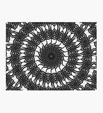 Gray Kaleidoscope Art 14 Photographic Print