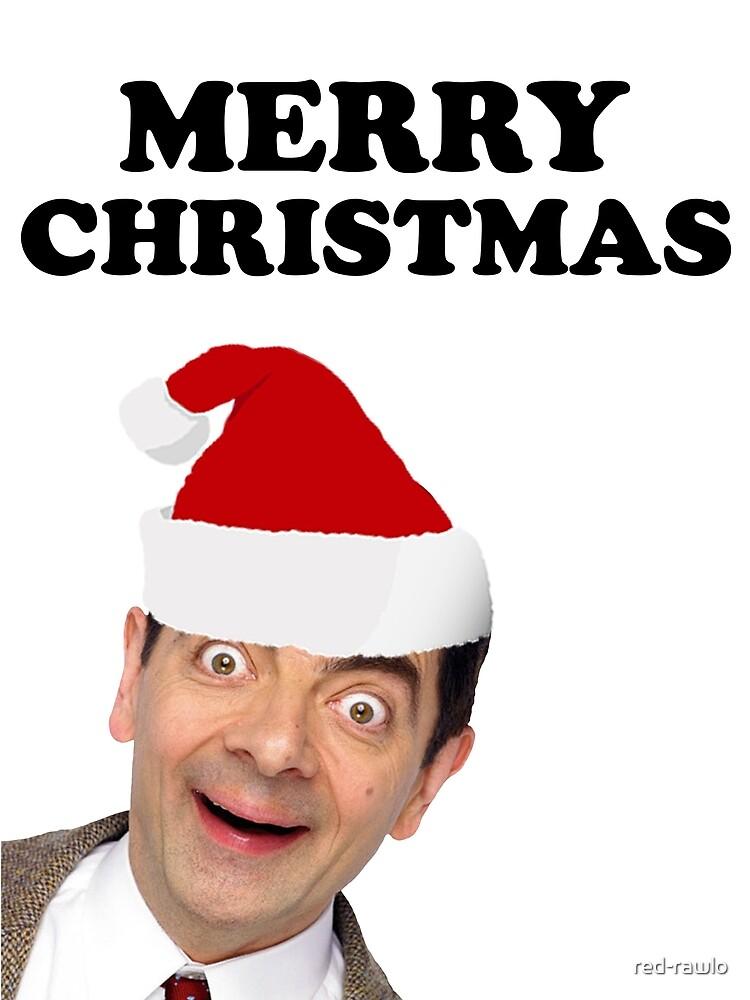 Mr Bean Christmas.Mr Bean Merry Christmas Canvas Print