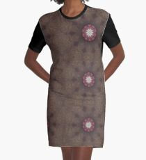Passion Flower of Lace Graphic T-Shirt Dress