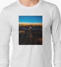 Plane at airport Long Sleeve T-Shirt