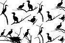 Nesting Cormorants by Betsy  Seeton