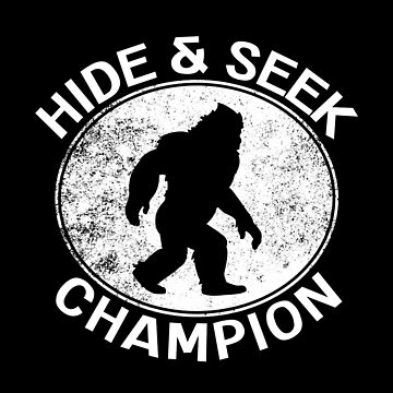 Vintage Hide And Seek Champion Bigfoot Sasquatch Shirt Gear by DynamicDesign